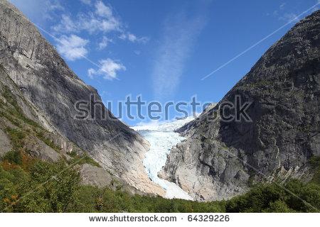 Glacier Valleys Stock Photos, Royalty.