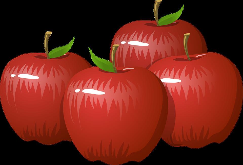 Free photo Fruits Harvest Ripe Apple Vitamins Red Autumn.