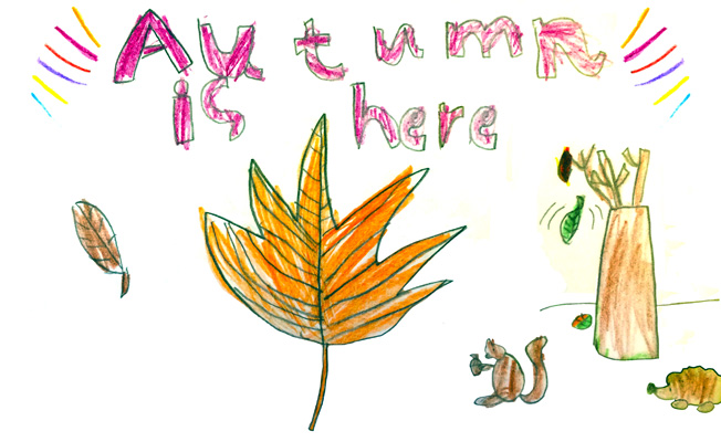 P2 Autumn Walk and Poems.