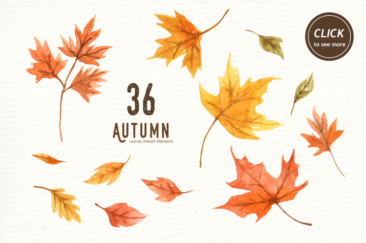 Autumn Watercolor clipart.