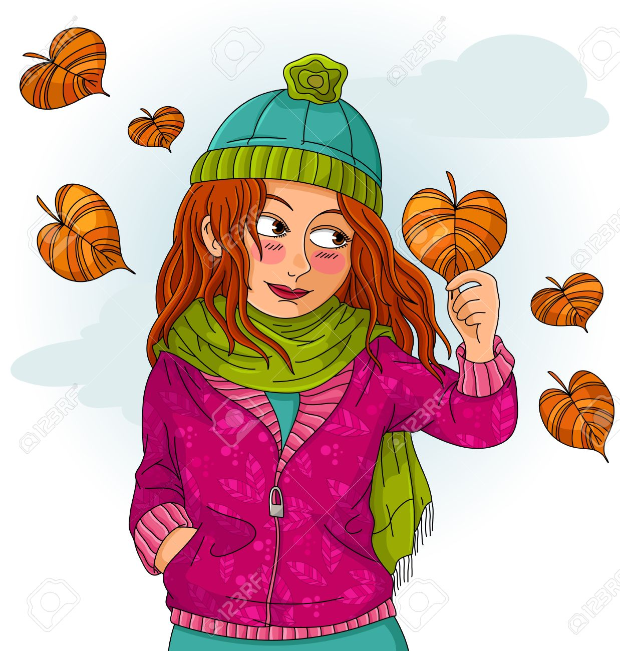 Fall weather clipart.