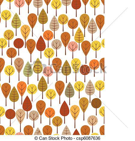 Clip Art Vector of Autumn woods.