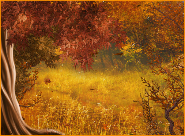 PSP tubes. Autumn Woods backgrounds, Special Member Clipart.