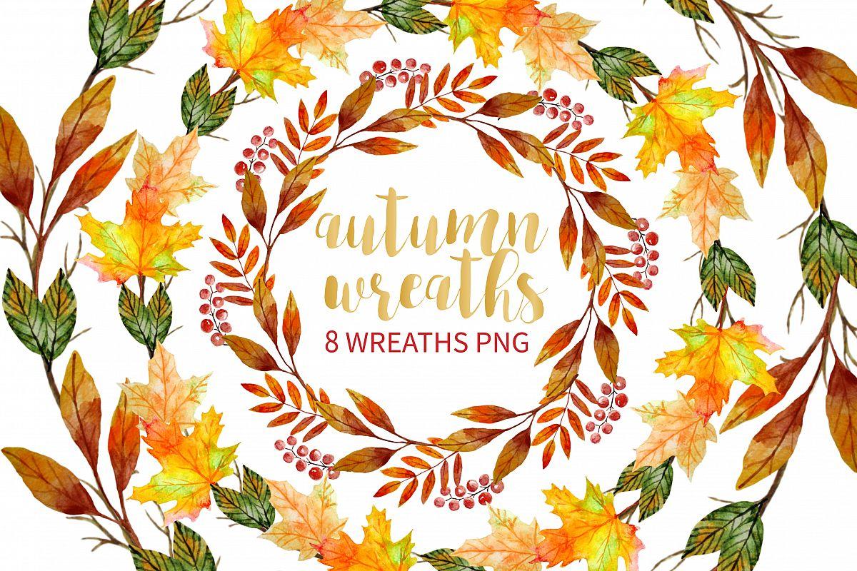 Autumn Wreath Clipart.