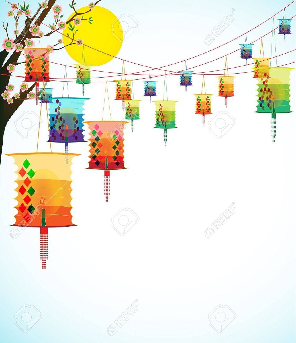 Clipart lantern festival.