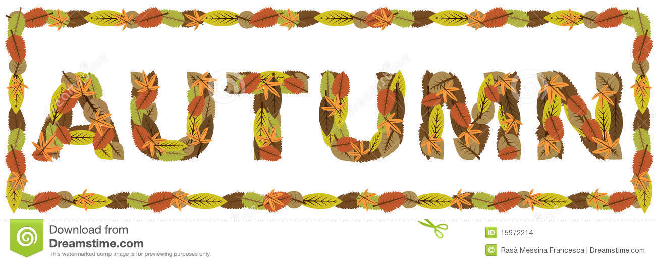 Autumn Word Stock Images.