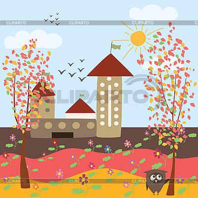 Autumnal landscape clipart #4