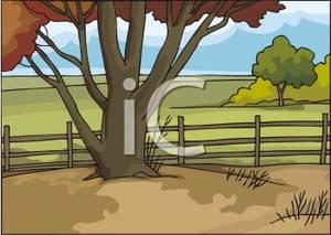 Autumnal landscape clipart #19