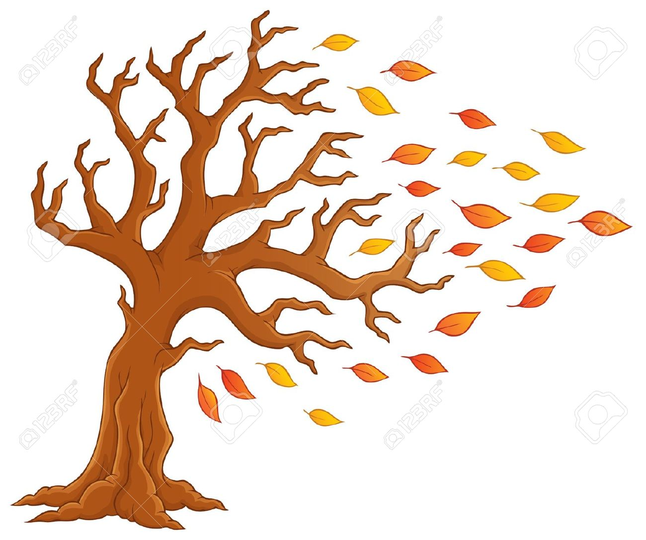 Autumn Tree Theme Image Royalty Free Cliparts, Vectors, And Stock.