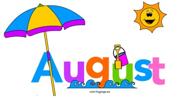 August clipart month year, August month year Transparent.