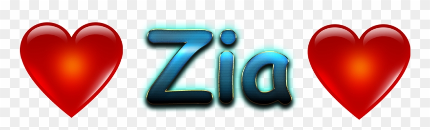 Zia Love Name Heart Design Png.