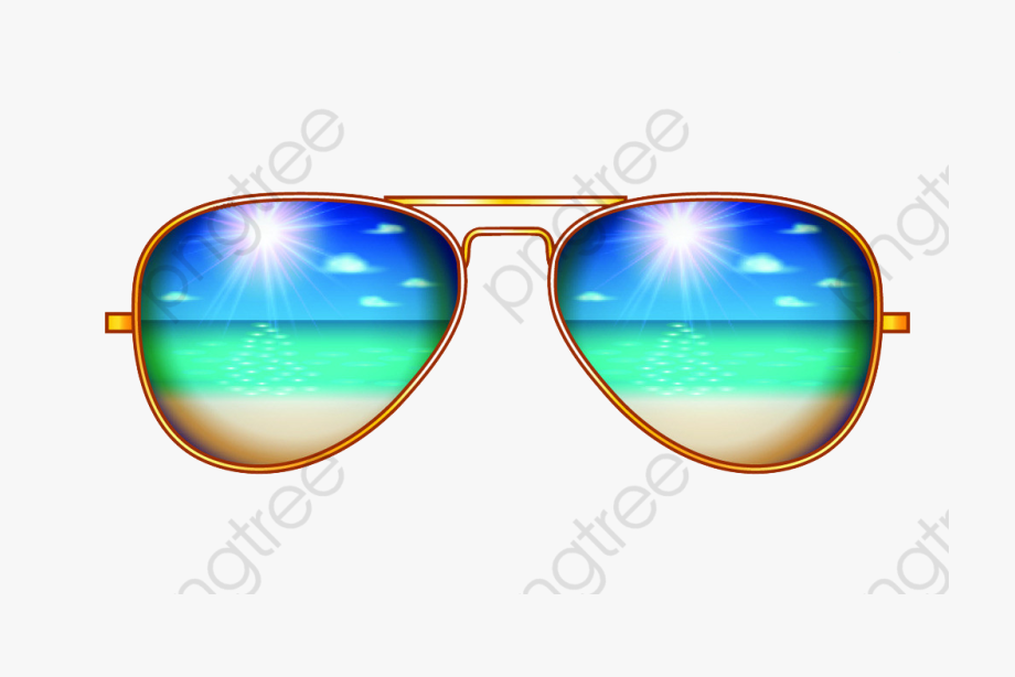 Aviator Sunglasses Clipart.