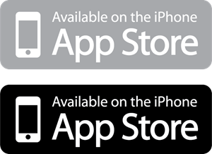 Available on the iPhone App Store Logo Vector (.AI) Free Download.