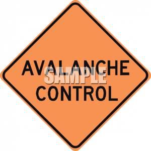Control Caution Road Sign.