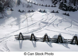 Pictures of avalanche control for protection against avalanches.