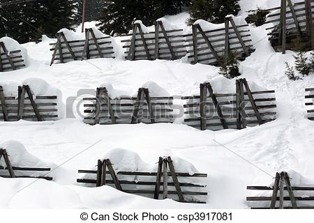 Stock Photography of Avalanche control to protect against.