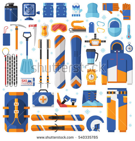 Avalanche equipment clipart #16