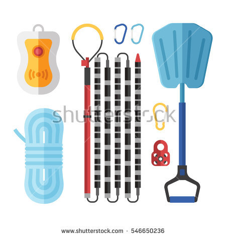 Avalanche equipment clipart #11