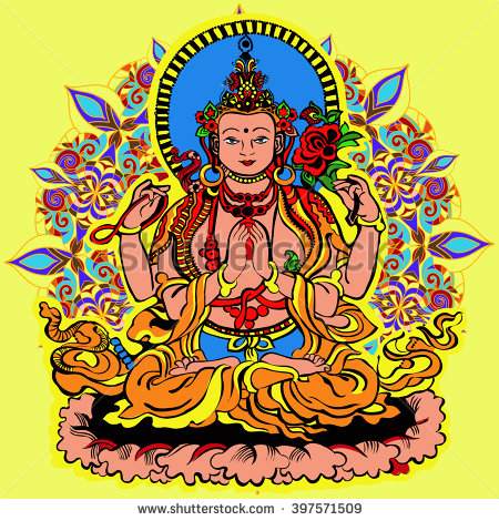 Avalokiteshvara Stock Images, Royalty.