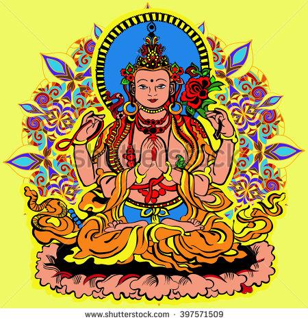 Avalokiteshvara Stock Images, Royalty.