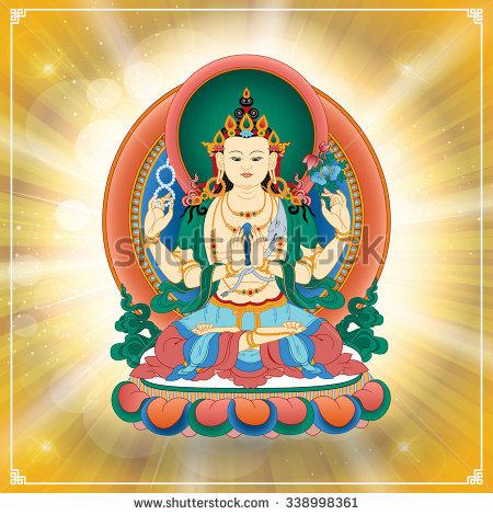 Avalokiteshvara Stock Photos, Royalty.