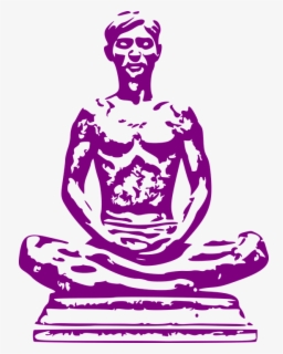 Free Meditating Clip Art with No Background.