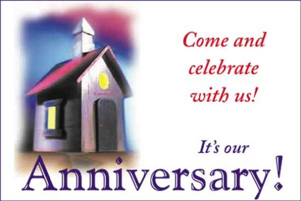 Religious Church Anniversary Clipart.