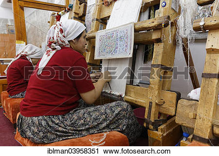 "Stock Photography of ""Sentez carpet weavery, Avanos, Nevsehir."