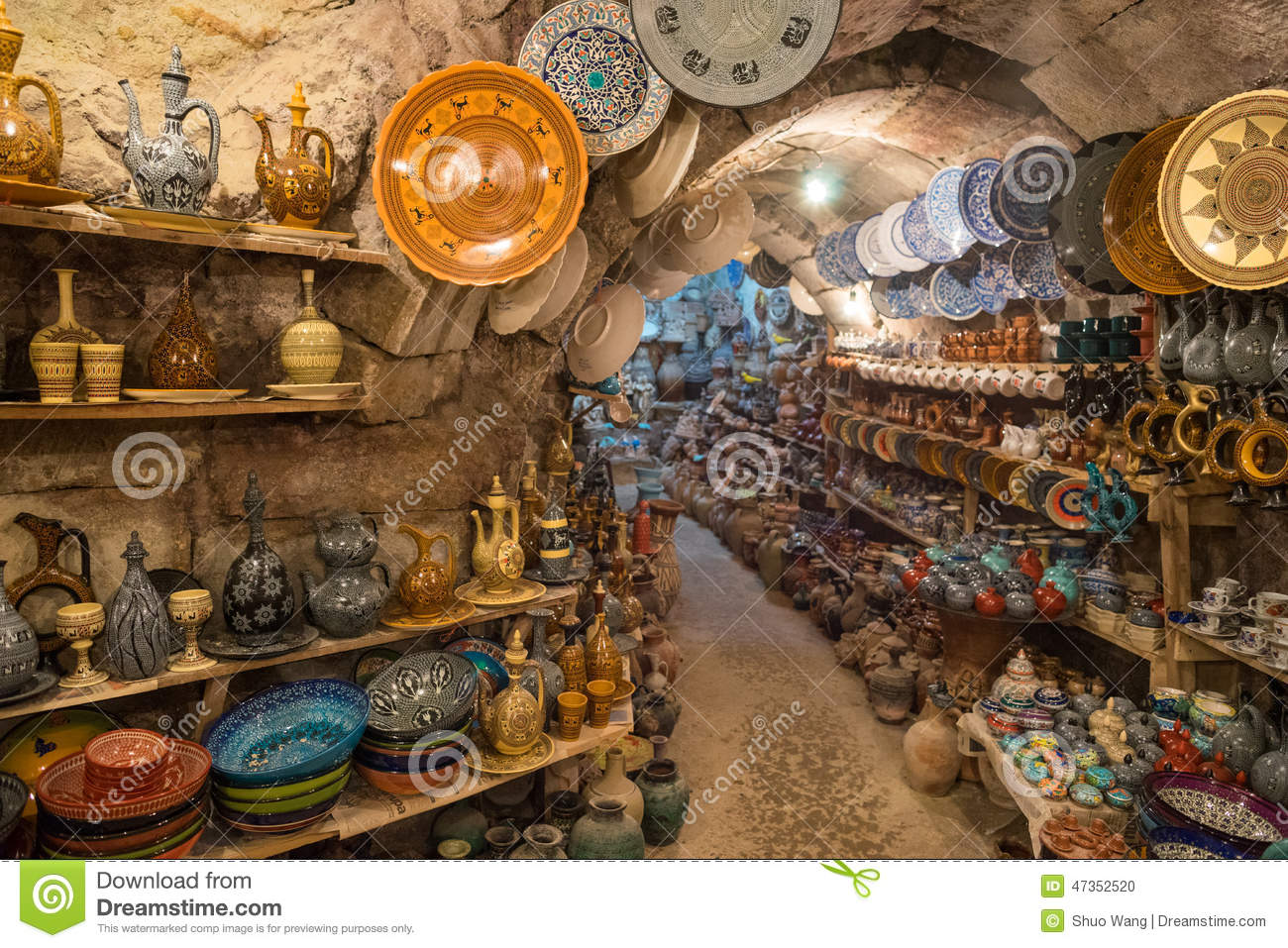 Avanos Pottery Workshop Stock Photo.