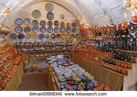 "Stock Image of ""Pottery Chez Bircan, Avanos, Nevsehir Province."