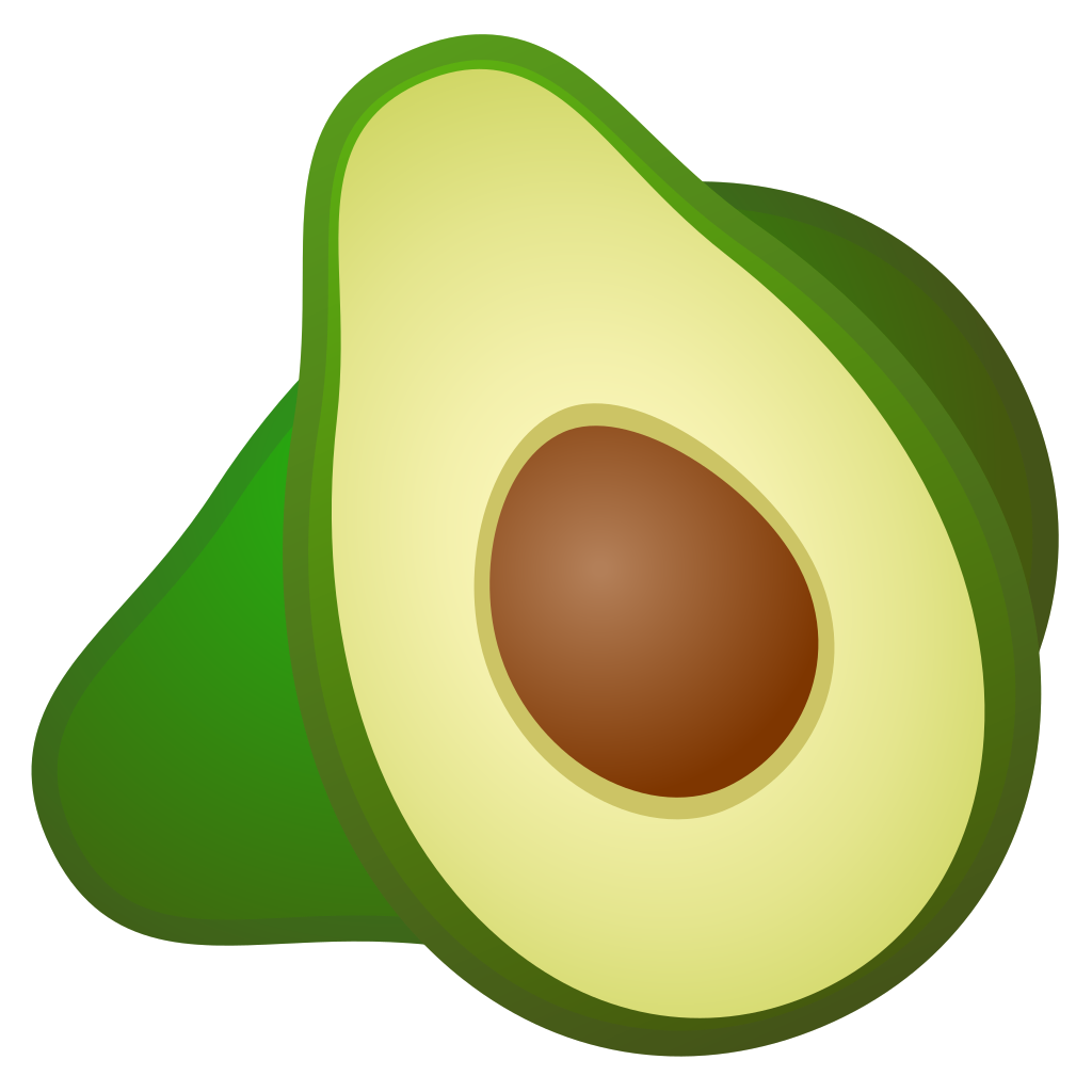 Avocado clipart png 2 » Clipart Station.