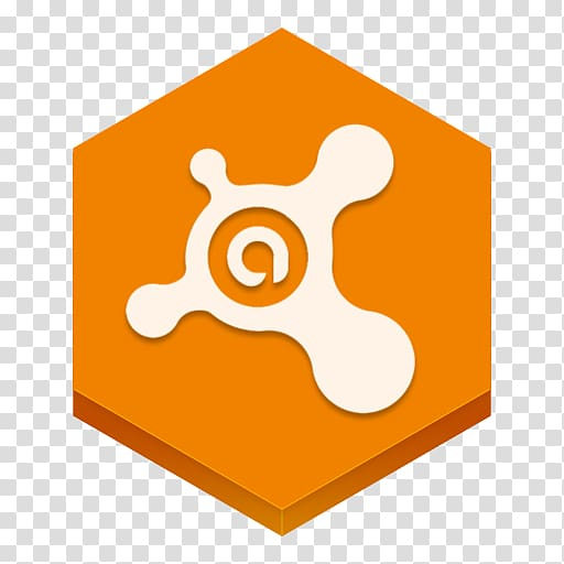 Orange and white logo, area text symbol material, Avast.