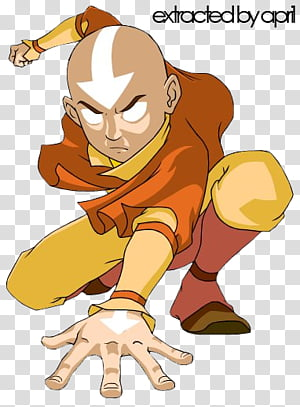 Avatar Aang The Last Airbender transparent background PNG.