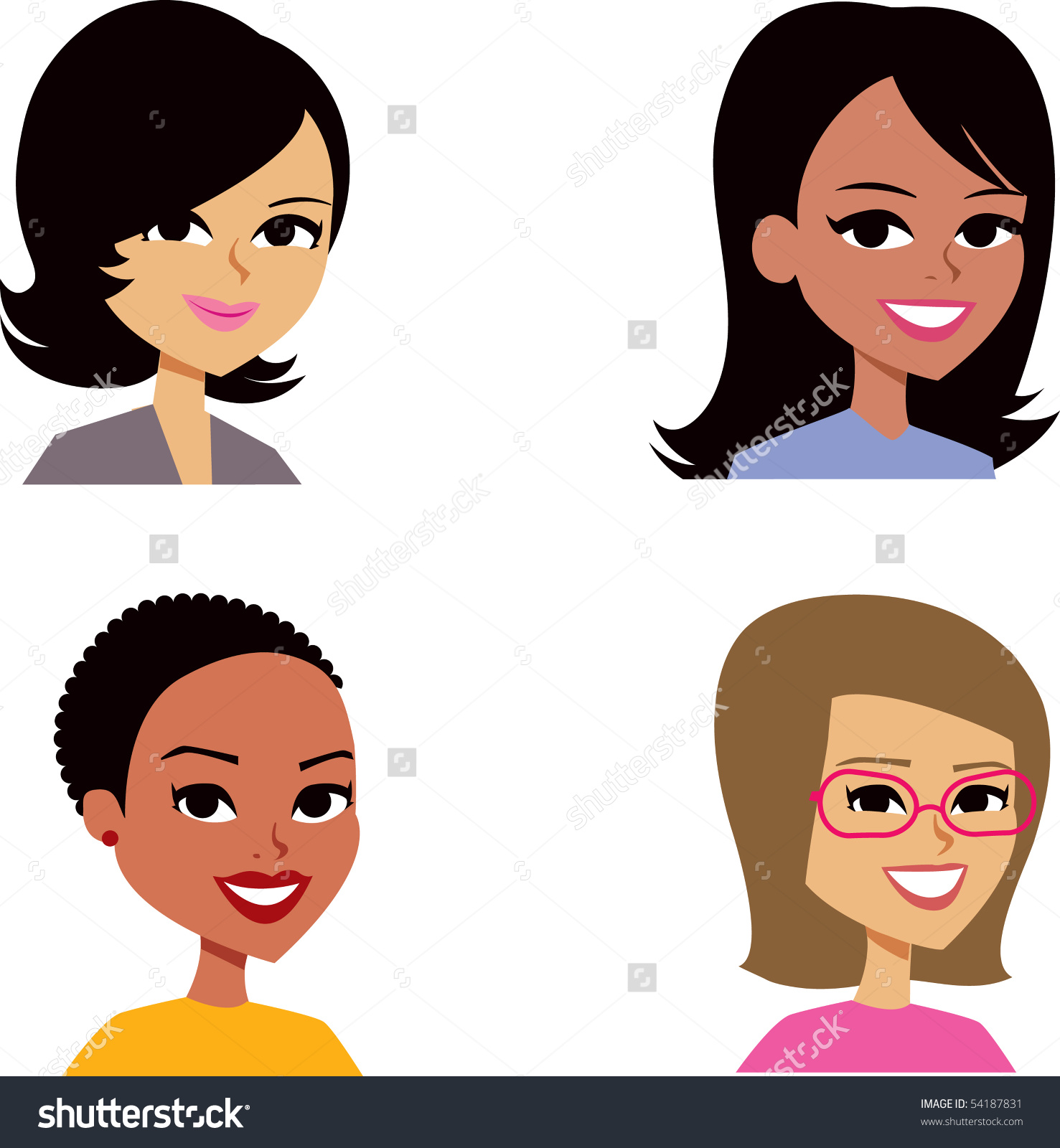 Woman avatar clipart.