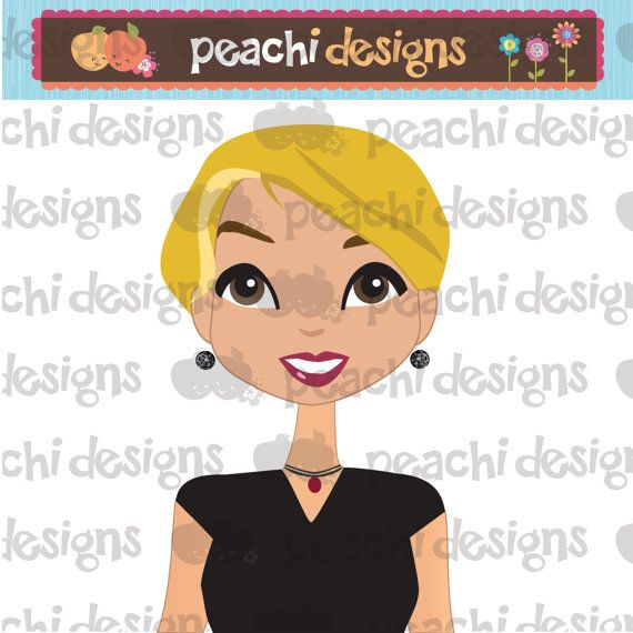 Girl Face Avatar with short blonde hair style and by.