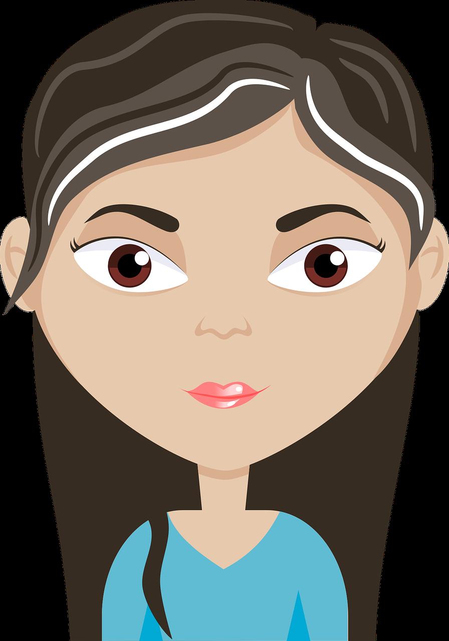 Avatar Cartoon Eyes Female PNG.