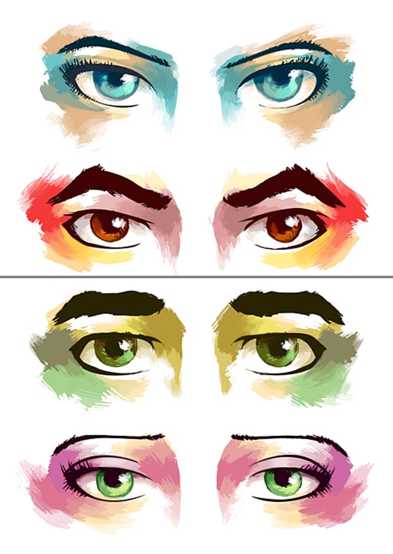 Korra, Mako, Bolin, and Asami's Eyes Avatar: Legend of Korra.