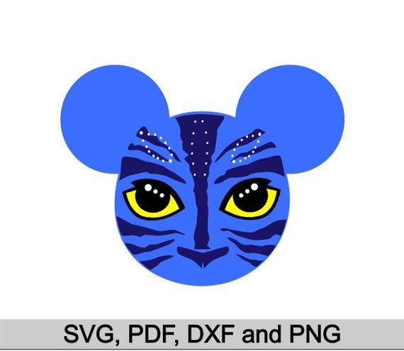 Pandora eyes, Avatar inspired, Avatar with Mickey ears, Pandora Vector,  Avatar with Mickey ears for Cutting Machines, Avatar svg pdf dxf png.