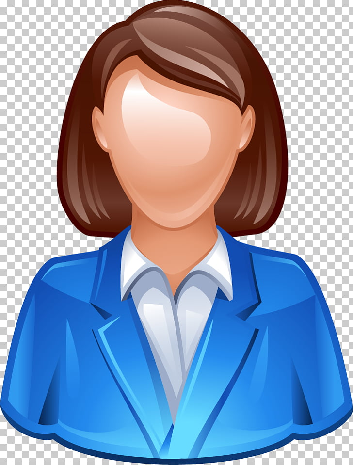 Avatar Icon, 3D character icon material, woman wearing blue.