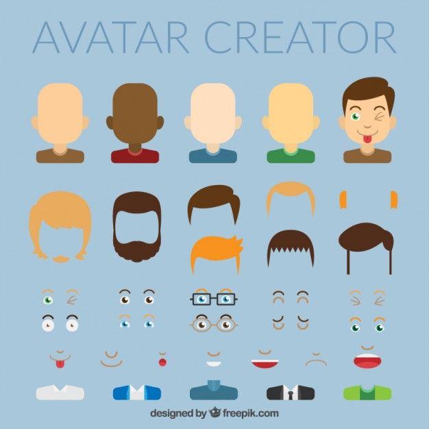 Avatar creator Free Vector.