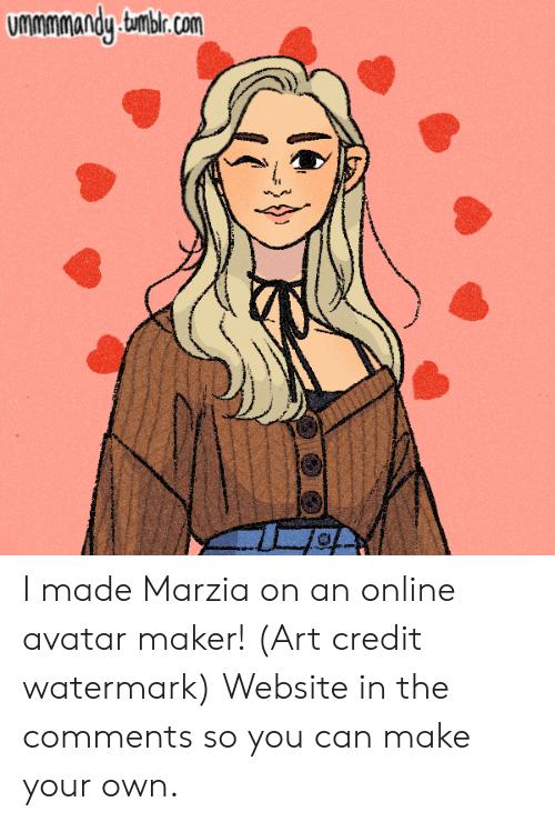 Ummmmandy Tmbircom I Made Marzia on an Online Avatar Maker! Art.