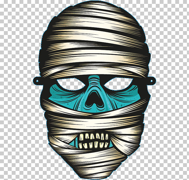 Mummy, Avatar terror mask PNG clipart.