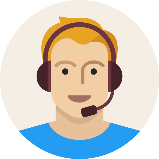 Avatar, headset, male, man, support, user, young icon.