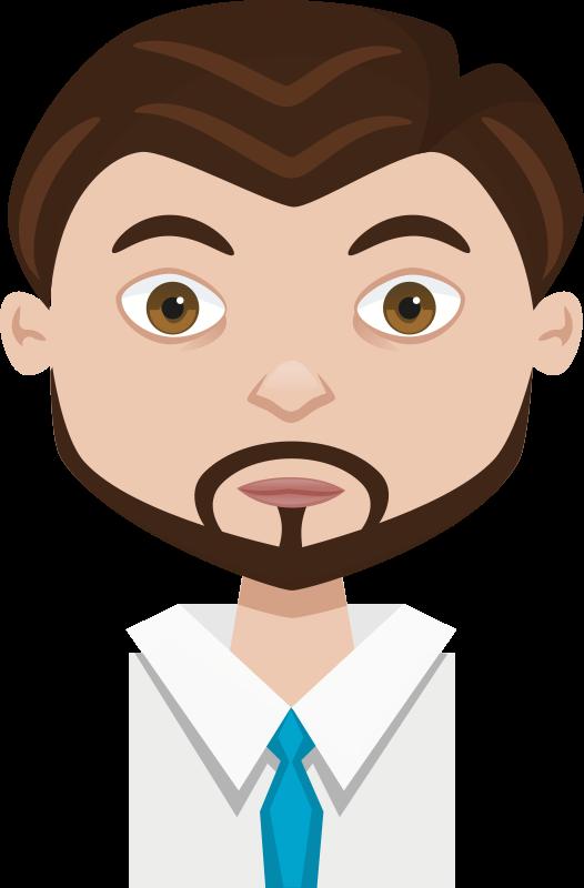 Free Clipart: Male cartoon avatar.