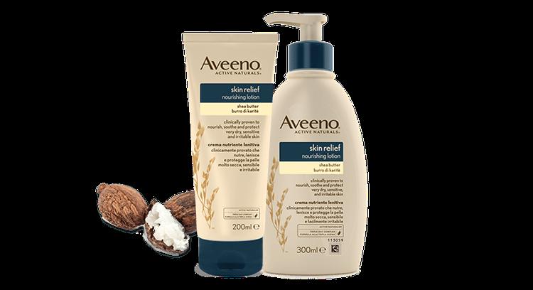 Aveeno® Skin Relief Nourishing Lotion With Shea Butter.