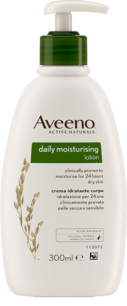Aveeno Daily Moisturising Lotion for Dry Skin Conditions.