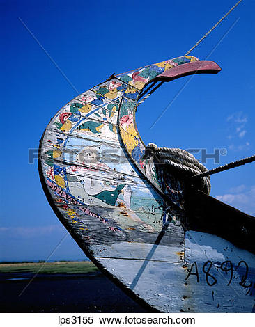 Stock Image of 06 Portugal Aveiro Lagoon Prow Of A Moliceiro.