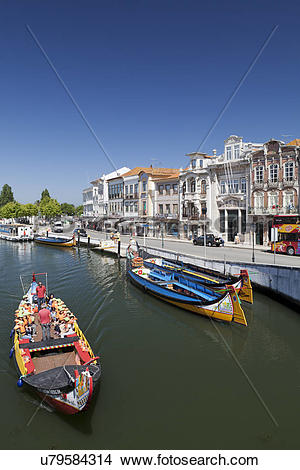 Stock Photo of Portugal, Beira Litoral, Aveiro. Art Nouveau.