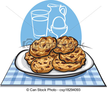 Oatmeal Cookie Clipart.