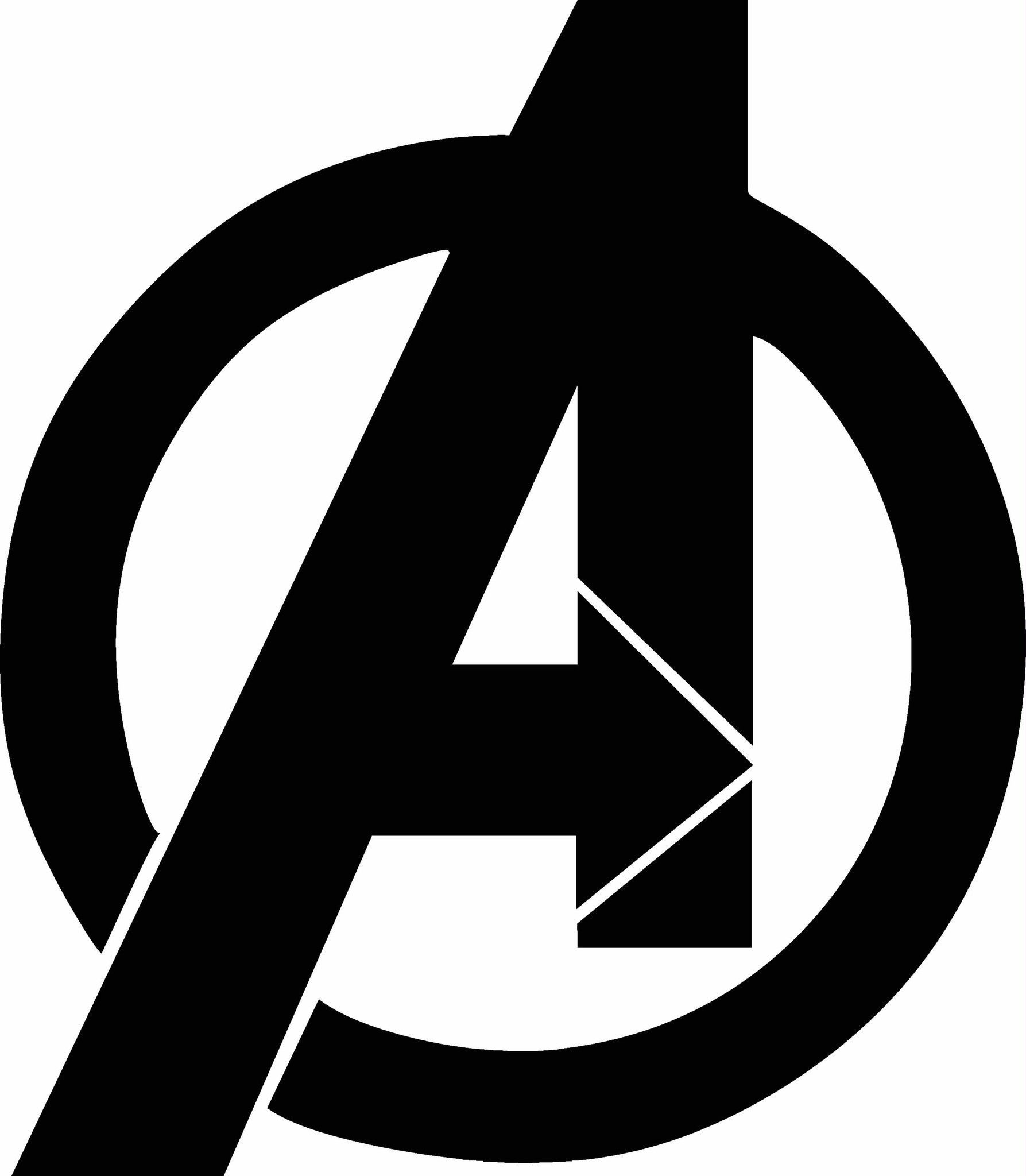Avengers Logo Vinyl Decal Graphic.